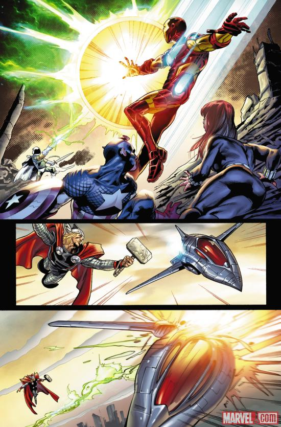 Avengers: Heroes Arise #1 preview art by Manuel Garcia