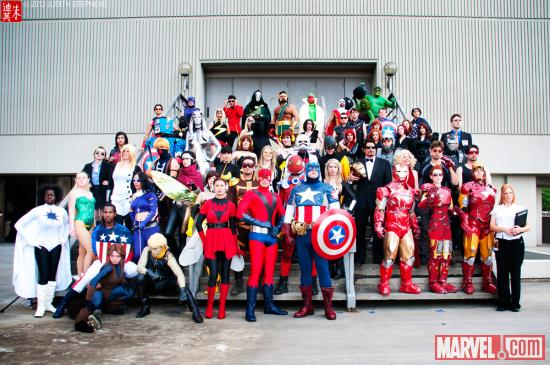 Marvel Costuming: Marvel Universe Gathering at Dragon*Con 2012