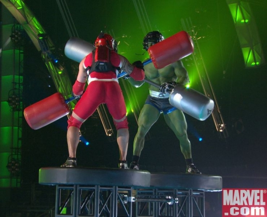 Hulked out Titan takes on one unlucky contestant