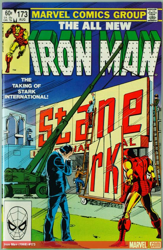 Iron Man #173 cover