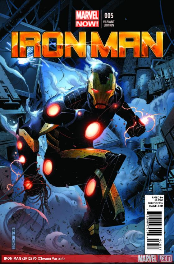 IRON MAN 5 CHEUNG VARIANT (NOW, 1 FOR 50, WITH DIGITAL CODE)
