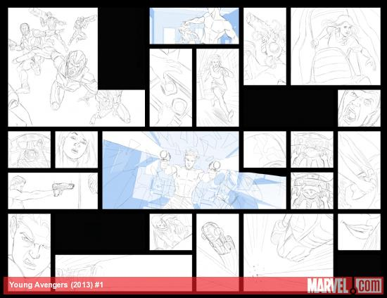 Young Avengers #1 preview pencils by Jamie McKelvie