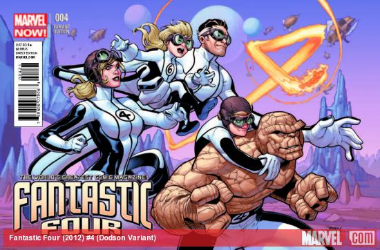 FANTASTIC FOUR 4 DODSON VARIANT (NOW, 1 FOR 50)