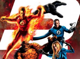 Image Featuring Thing, Fantastic Four, Human Torch, Invisible Woman