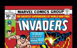Image Featuring Captain America, Sub-Mariner, Spitfire, Human Torch (Jim Hammond), Union Jack (Montgomery Falsworth)