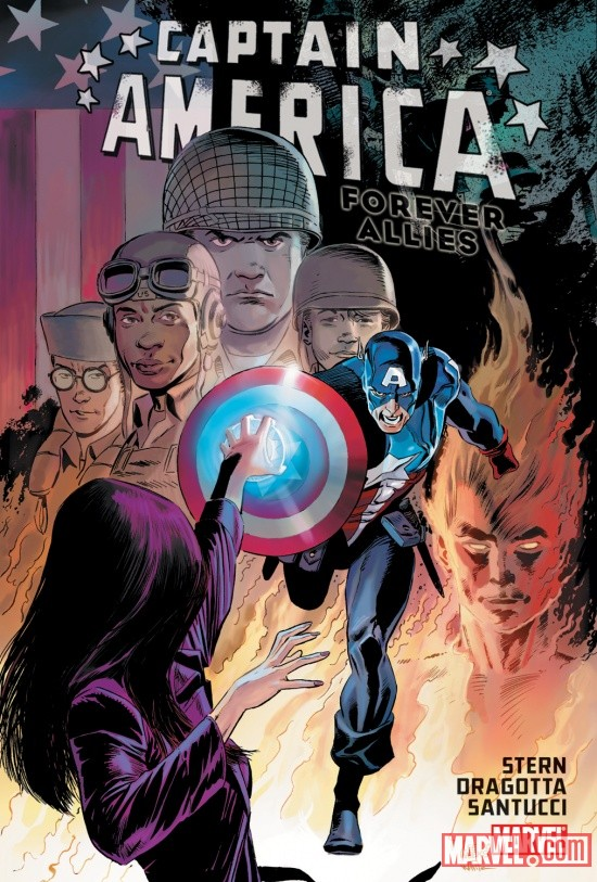 CAPTAIN AMERICA: FOREVER ALLIES HC cover by Lee Weeks