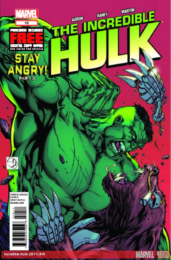 INCREDIBLE HULK 10 (WITH DIGITAL CODE)