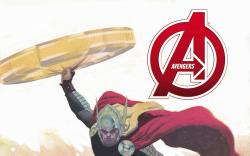 cover from Avengers (2012) #1 (RIBIC VARIANT)