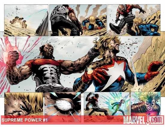 Supreme Power (2011) #1 preview art by Manuel Garcia