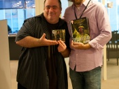 Jonathan Coulton and Dan Slott at Marvel HQ