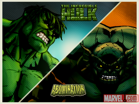Hulk and the Abomination in Marvel KAPOW!
