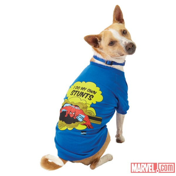 Spider-Man Stunt Dog Tee by Fetch available at PetSmart