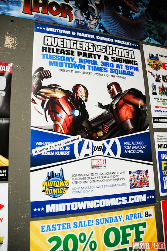 Avengers Vs X-Men Release Party Poster 
