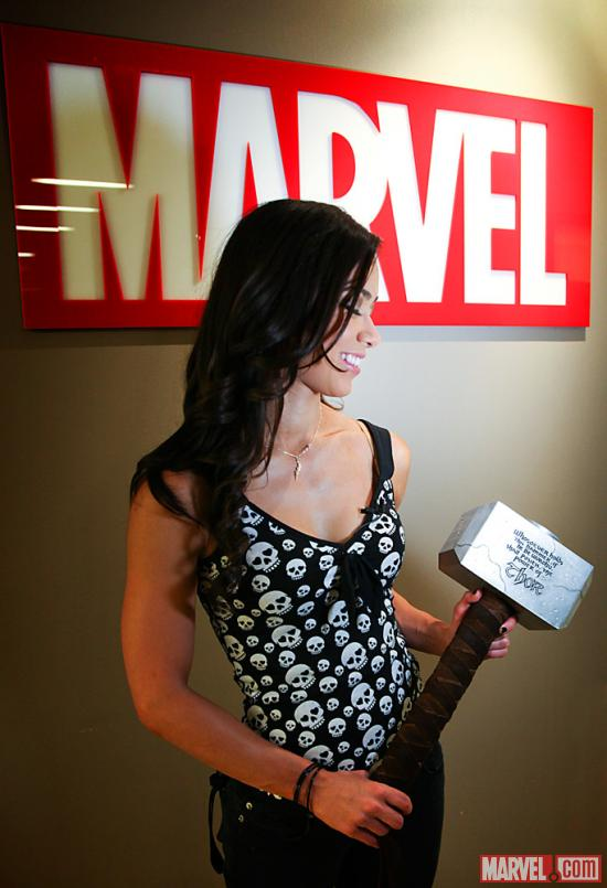 AJ Lee at Marvel (photo by Judy Stephens)