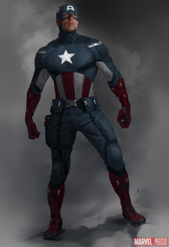 Captain America concept art by Ryan Meinerding from Marvel's The Avengers