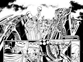 All-New Invaders preview inks by Steve Pugh