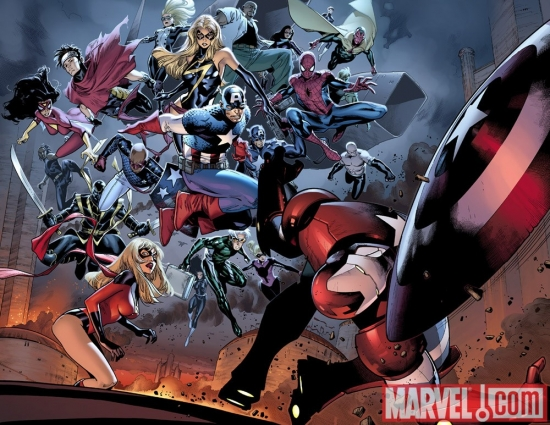 Image Featuring Secret Warriors, Spider-Man, Vision, Wiccan, Captain Marvel (Carol Danvers), Moonstone, Avengers, Young Avengers, Luke Cage, The Winter Soldier, Captain America, Stature, Norman Osborn, Speed, Patriot, Mockingbird