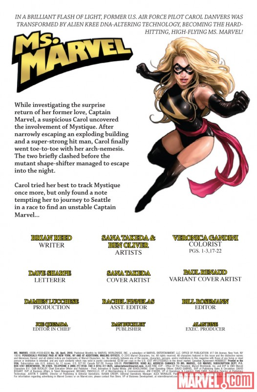 MS. MARVEL #50 Recap Page