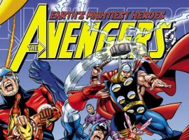 AVENGERS ASSEMBLE VOLUME ONE cover by George Perez