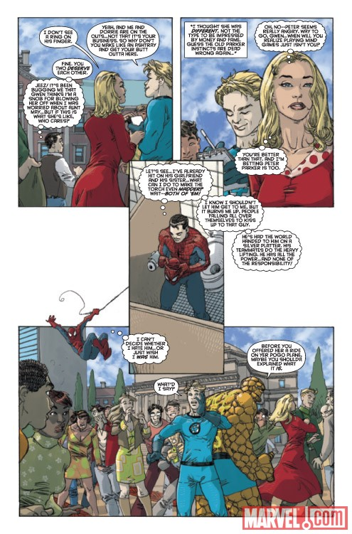SPIDER-MAN/FANTASTIC FOUR #1 preview art by Mario Alberti
