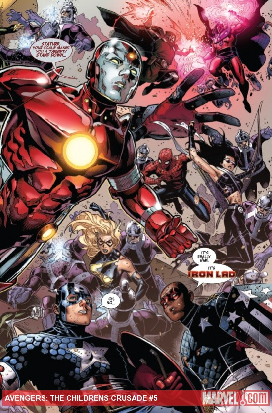 Avengers: The Children's Crusade #5 preview art by Jim Cheung