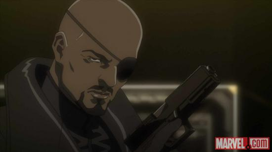 Nick Fury in Iron Man: Rise of Technovore