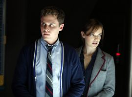 Agents Fitz (Iain De Caestecker) and Simmons (Elizabeth Henstridge) work closely together in Marvel's Agents of S.H.I.E.L.D.