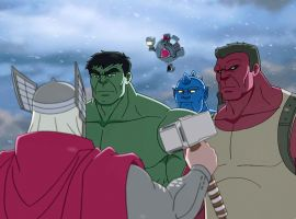The Hulks meet Thor in Marvel's Hulk and the Agents of S.M.A.S.H.