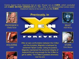X-MEN FOREVER #2, intro page