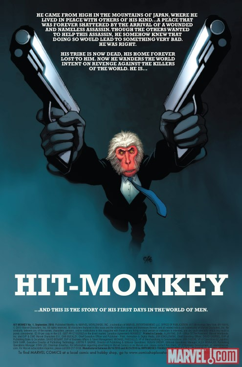 HIT-MONKEY #1 preview art by Dalibor Talajic