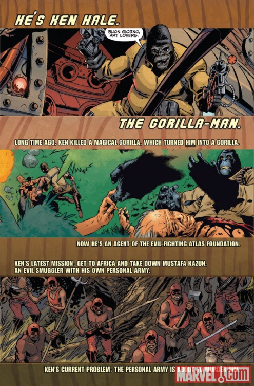 GORILLA-MAN #2 recap page