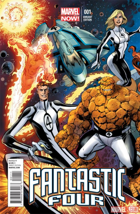 Fantastic Four #1 variant cover by Mark Bagley