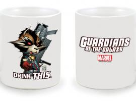 Marvel Exclusive NYCC 2012 Rocket Raccoon mug by Joe Quesada