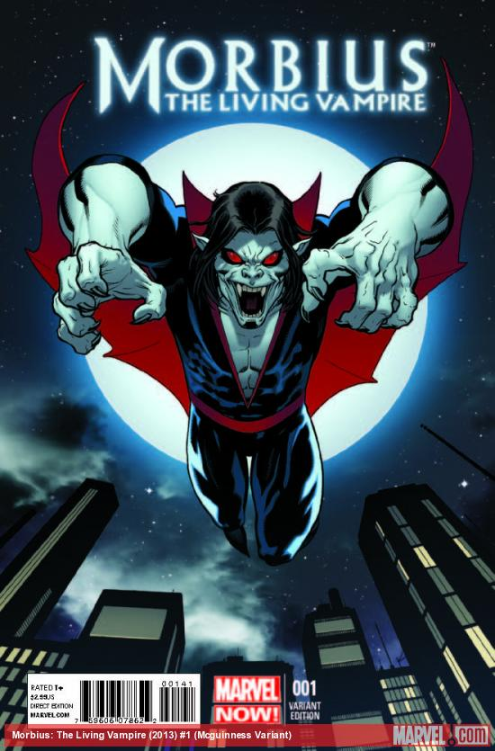 MORBIUS: THE LIVING VAMPIRE 1 MCGUINNESS VARIANT (NOW, 1 FOR 50)