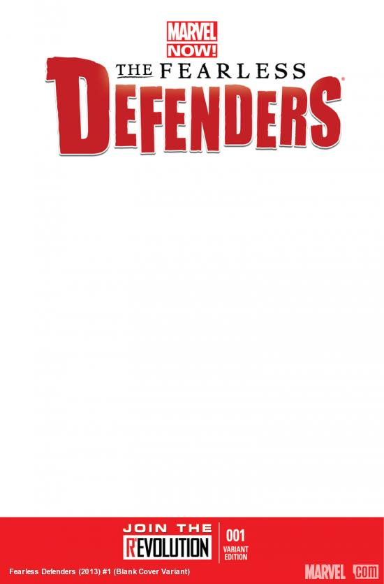 cover from Defenders II (2013) #1 (BLANK COVER VARIANT)