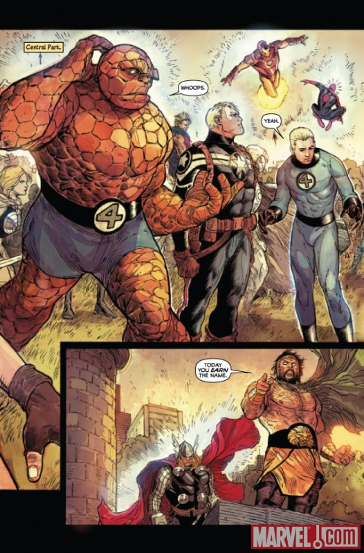 Image Featuring Captain America, Hercules (Heracles), Human Torch, Iron Man, Spider-Man, Thing