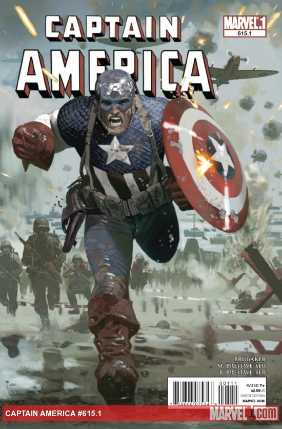 Captain America #615.1 cover by Daniel Acuna