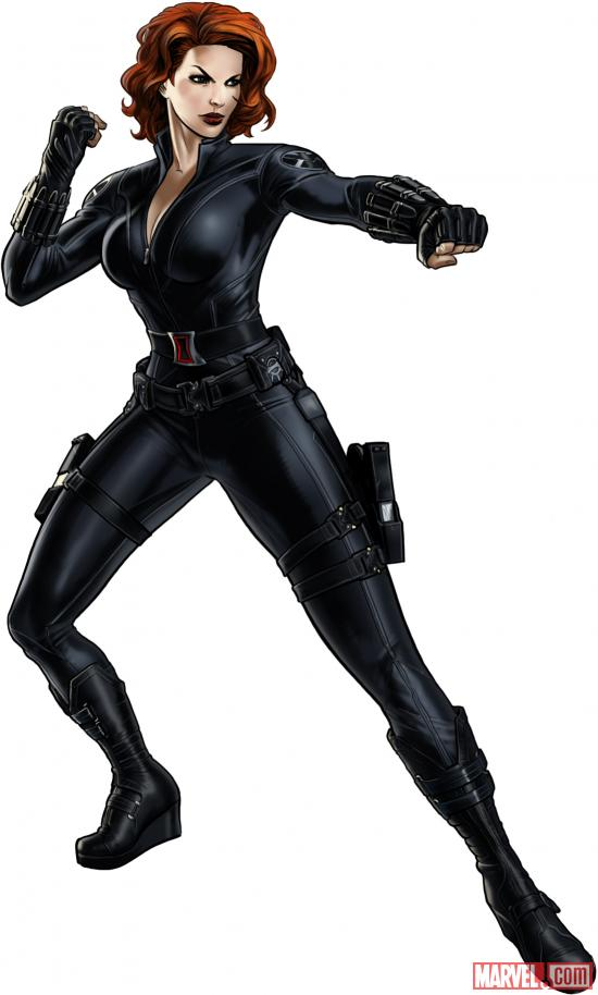 Black Widow (Marvel's The Avengers alternate costume) in Marvel: Avengers Alliance