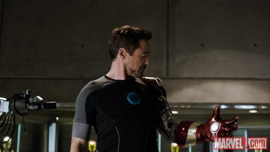Robert Downey, Jr. stars as Tony Stark/Iron Man in Iron Man 3