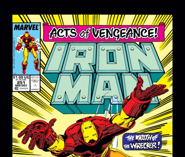 Iron Man (1968) #251 Cover