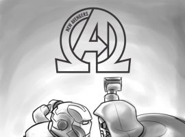 NEW AVENGERS 11 CASTELLANI LEGO SKETCH VARIANT (NOW, INF, WITH DIGITAL CODE)