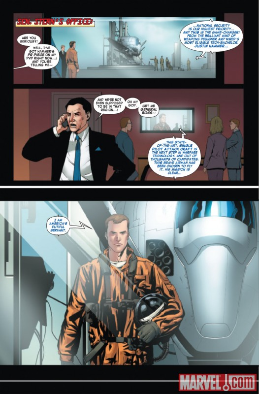 IRON MAN 2: PUBLIC IDENTITY #3 preview art by Barry Kitson