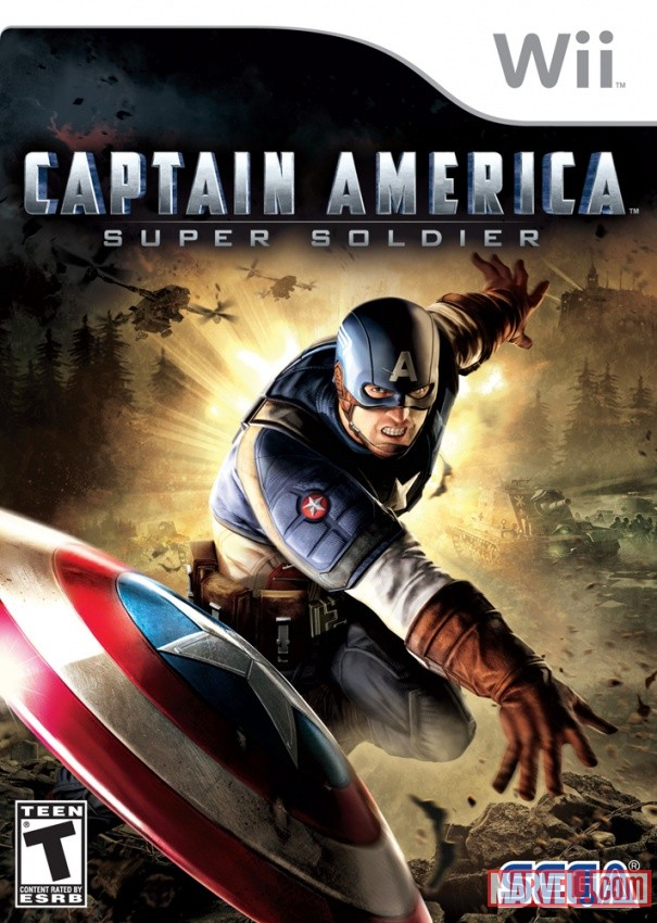 Captain America: Super Soldier Wii Box Art