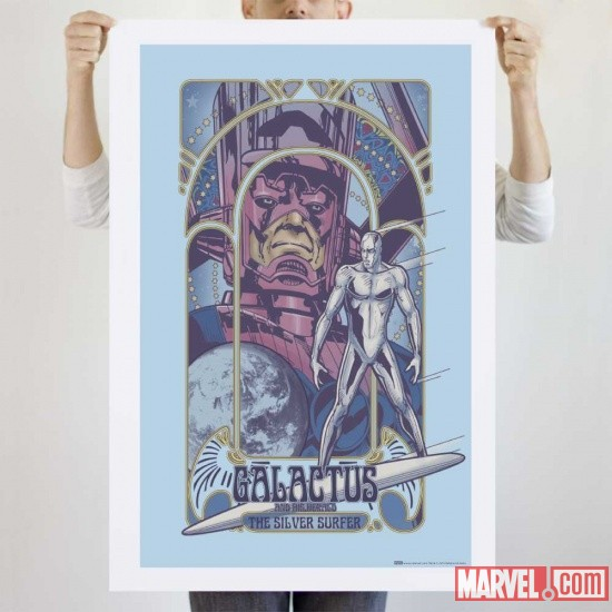 Galactus &amp; Silver Surfer Nouveau (poster) from We Love Fine