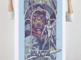 Galactus & Silver Surfer Nouveau (poster) from We Love Fine
