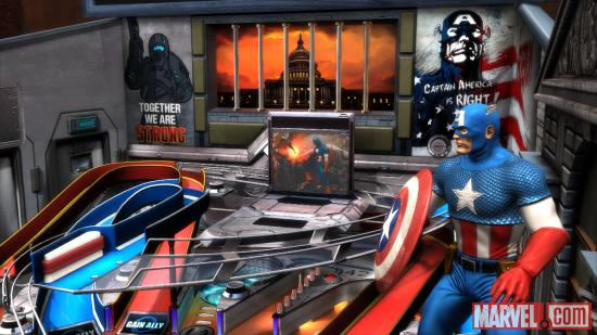 Captain America in Marvel Pinball: Civil War