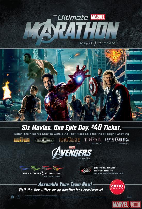 AMC's Ultimate Marvel Marathon poster