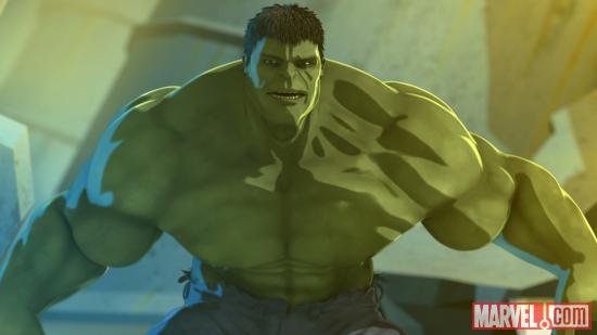 Hulk in Marvel's Iron Man & Hulk: Heroes United
