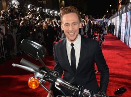Tom Hiddleston (Loki) at the red carpet premiere of Marvel's Thor: The Dark World in Los Angeles