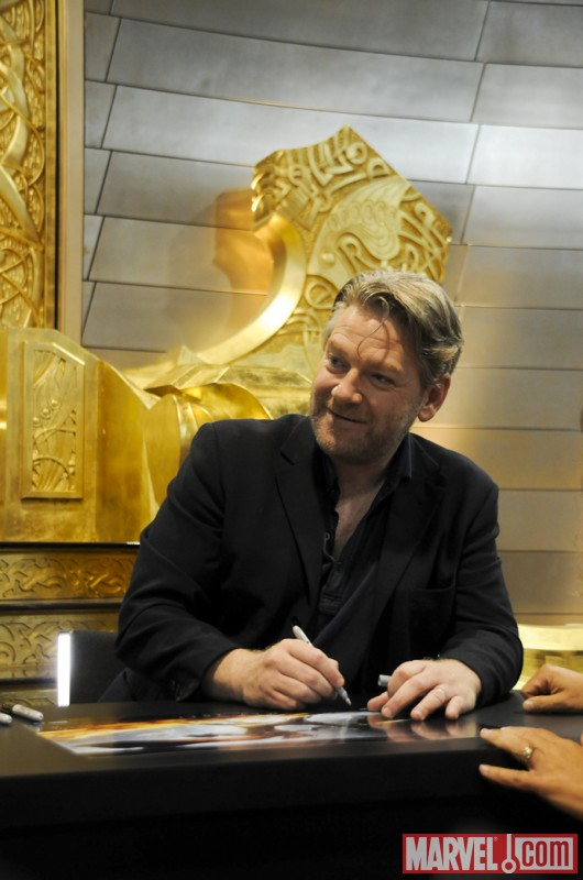 """Thor"" Director Kenneth Branagh signing at SDCC '10"